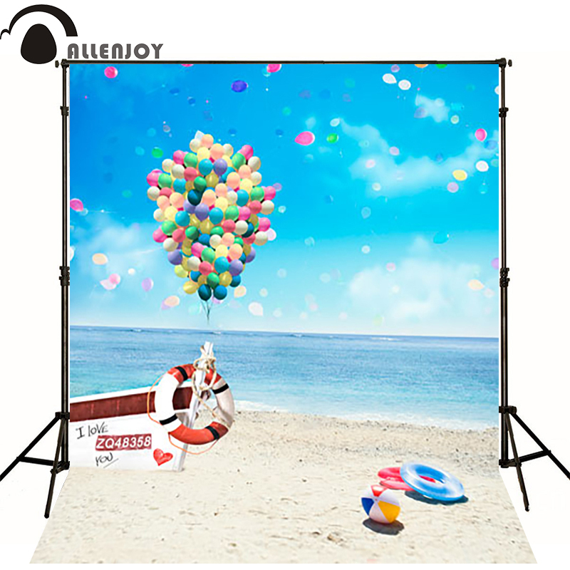 10*20feet(300*600CM) photography background fotografia photo background Balloon beach bow photography backdrops new arrival background fundo simple painting balloon 7 feet length with 5 feet width backgrounds lk 2679