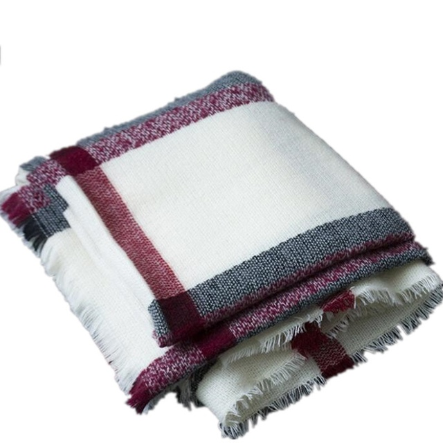 3a30ca0bdc96d Plaid Blanket Scarf Cashmere Feel Scarves Shawls Womens Scarfs Fashionable  Pashmina Poncho Giant Check Scarf For Women 200x100