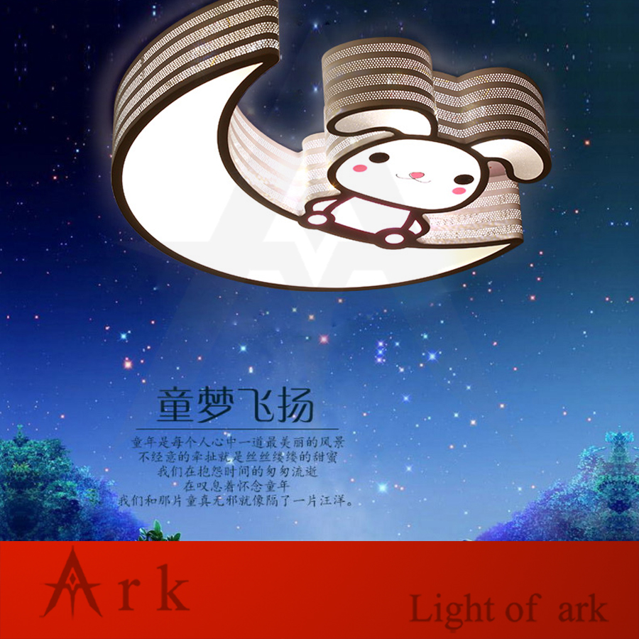 creative lovely cartoon moon and rabbit ceiling lamp SMD LED Electrodeless Dimmable light study Children boy girl room bedroom creative cartoon ceiling lamp smd led electrodeless dimmable air plane shape light study children boy girl room bedroom