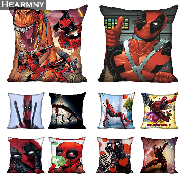 Deadpool Pillow Case For Home Decorative Pillows Cover Invisible Zippered Throw PillowCases 40X40 45X45cm