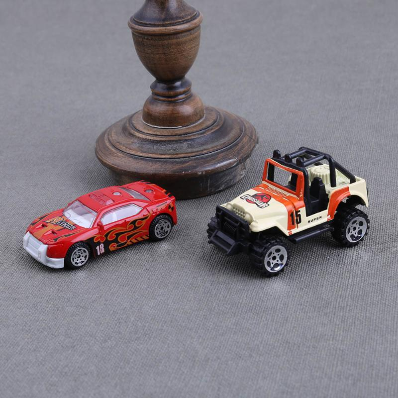 6Pcs/set Mini Alloy Military Engineering Car Model Diecast Kids Children Educational Toys for Christmas Gift