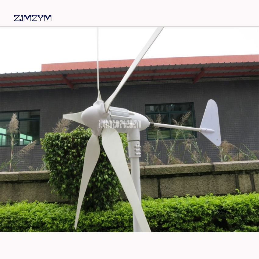 Wind Turbine Blade 5 Aerogenerator 24v Windmill Generator 740r / m Small Wind Power Generator 12v Wind Turbina Generator Z-500W free shipping 600w wind grid tie inverter with lcd data for 12v 24v ac wind turbine 90 260vac no need controller and battery