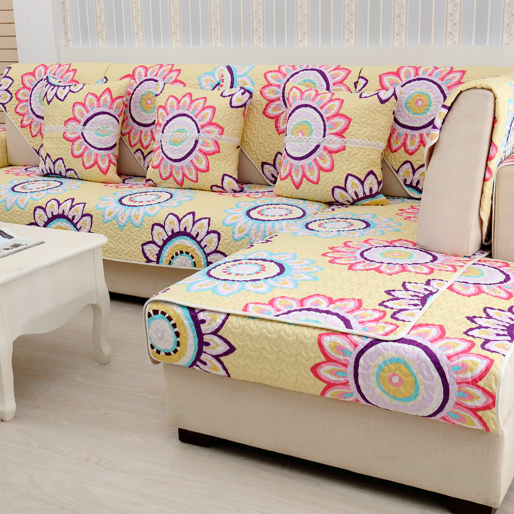 Cotton Plain Dyed Twill Plant Combination Kit Sectional Sofa Sofa  Cover(China (Mainland)