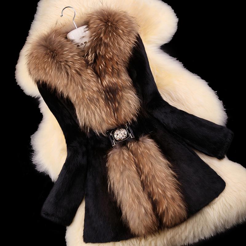 Autumn-Ladies-Natural-Rabbit-Fur-Coat-Jacket-Raccoon-Fur-Collar-Winter-Women-Fur-Trench-Outerwear-Coats