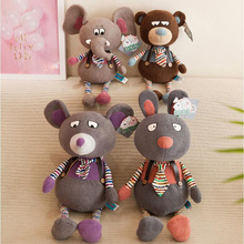 Creative Funny Cool Series Tie Support Raccoon Baby Elephant Plush Toy Doll Pillow Activity Gift Children Birthday
