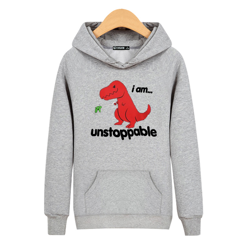 LUCKYFRIDAYF Harajuku Unstoppable Red Dinosaur Hoodies Men Women Cartoon in Sweatshirt Hoodie Cotton Streetwear hoodies clothing in Hoodies amp Sweatshirts from Women 39 s Clothing