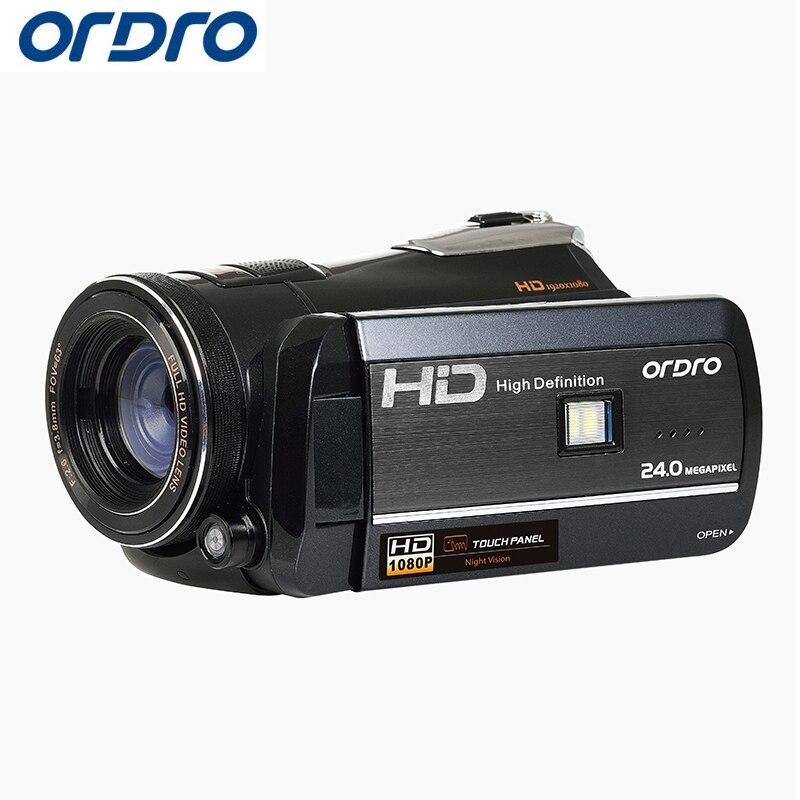 Ordro HD цифровой Камера 18X24.0 Мп фото рефлекс Wi Fi Камера S Video Регистраторы CMOS Ночное видение Видеокамеры