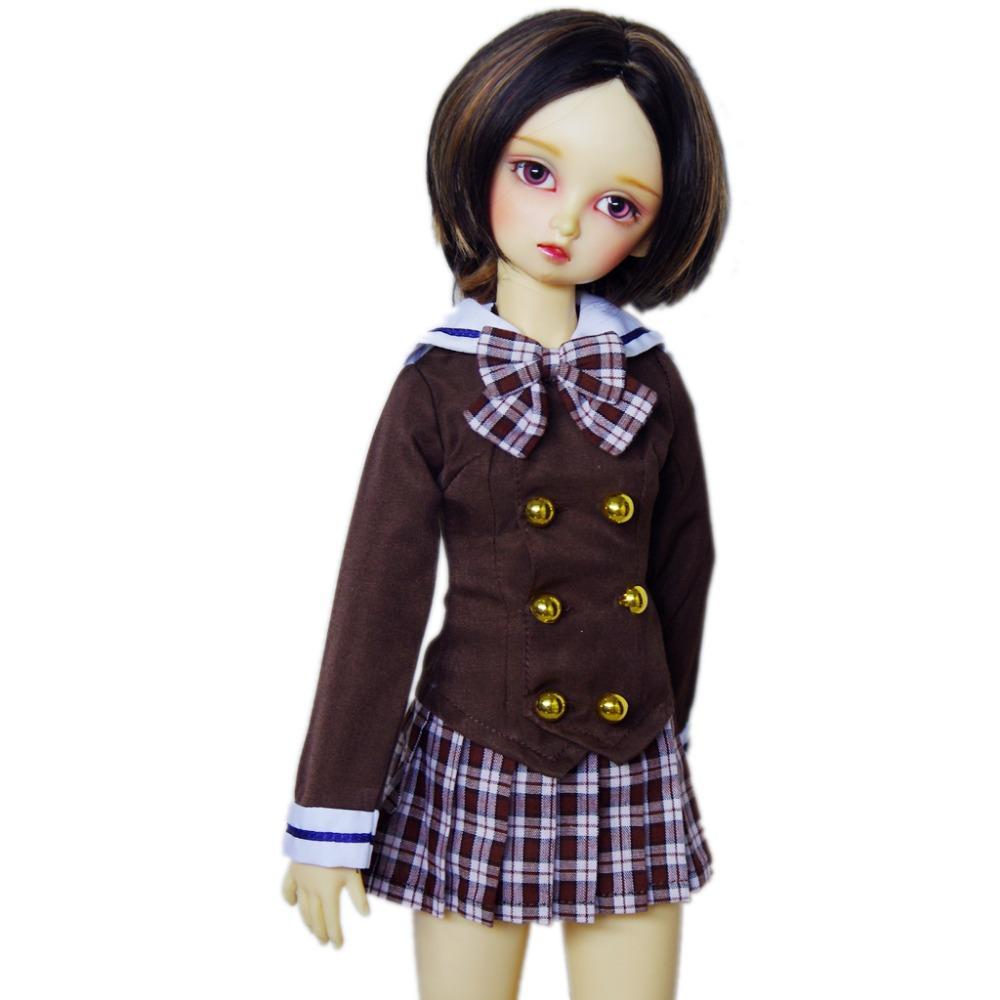 [wamami] 288# Brown Korean School Uniform For 1/3 SD DOD DZ BJD Dollfie