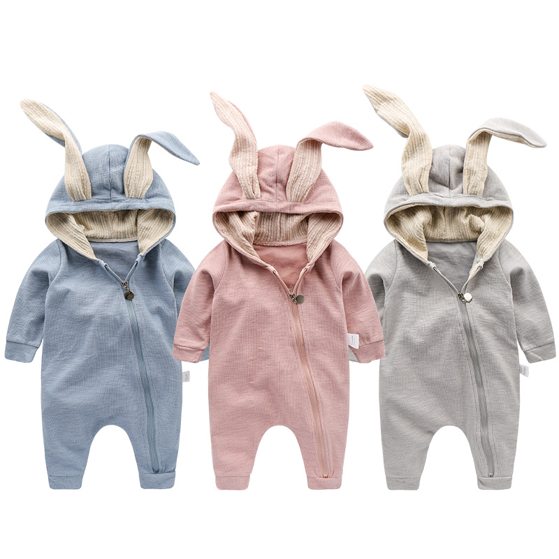 c9ca24d14 2018 Newborn Infant Baby Girl Boy Clothes Cute 3D Bunny Ear Romper ...