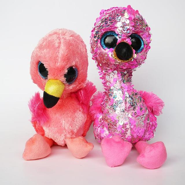 533e0e7680f Ty Gear Beanie Boos 17cm Pinky the Sequin Flamingo Gilda Plush Stuffed  Animals Doll Toys Collection Kids Christmas Gift
