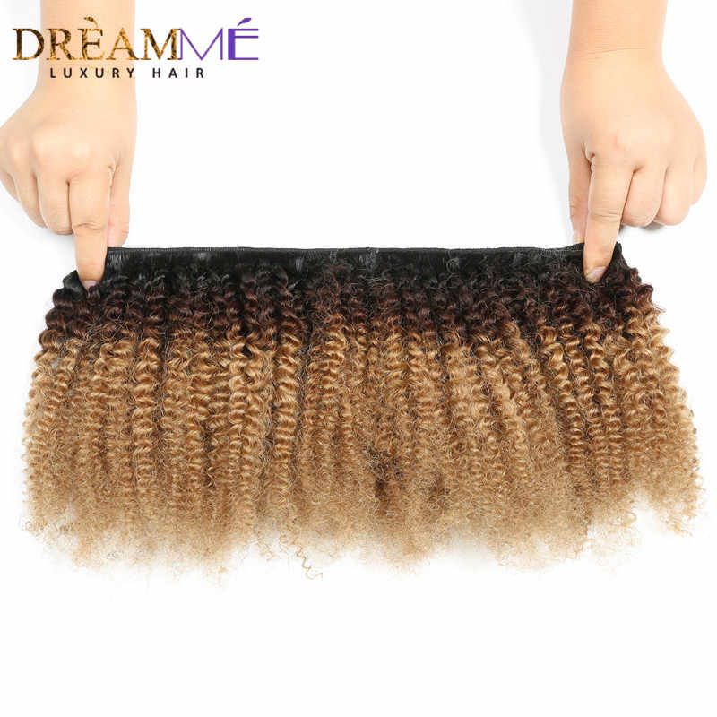 1B /4/27 Afro Kinky Curly Clip In Human Hair Extensions 8 Pcs/Set Clips 4B 4C Mongolian Ombre Hair Clips For Ponatail  Remy Hair