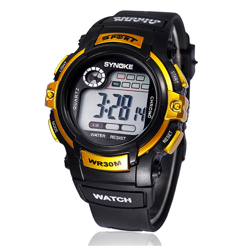 New Kids Watches Boy Digital Watch LED Quartz Alarm Date Sports Waterproof WristWatch дткие час спортивне час Reloj Nio Relogio