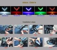 2 шт. / лот 14 smd led стрелка панель для автомобилей заднего вида зеркало индикатор сигнала поворота свет автомобиль водить зеркало заднего вида свет aj