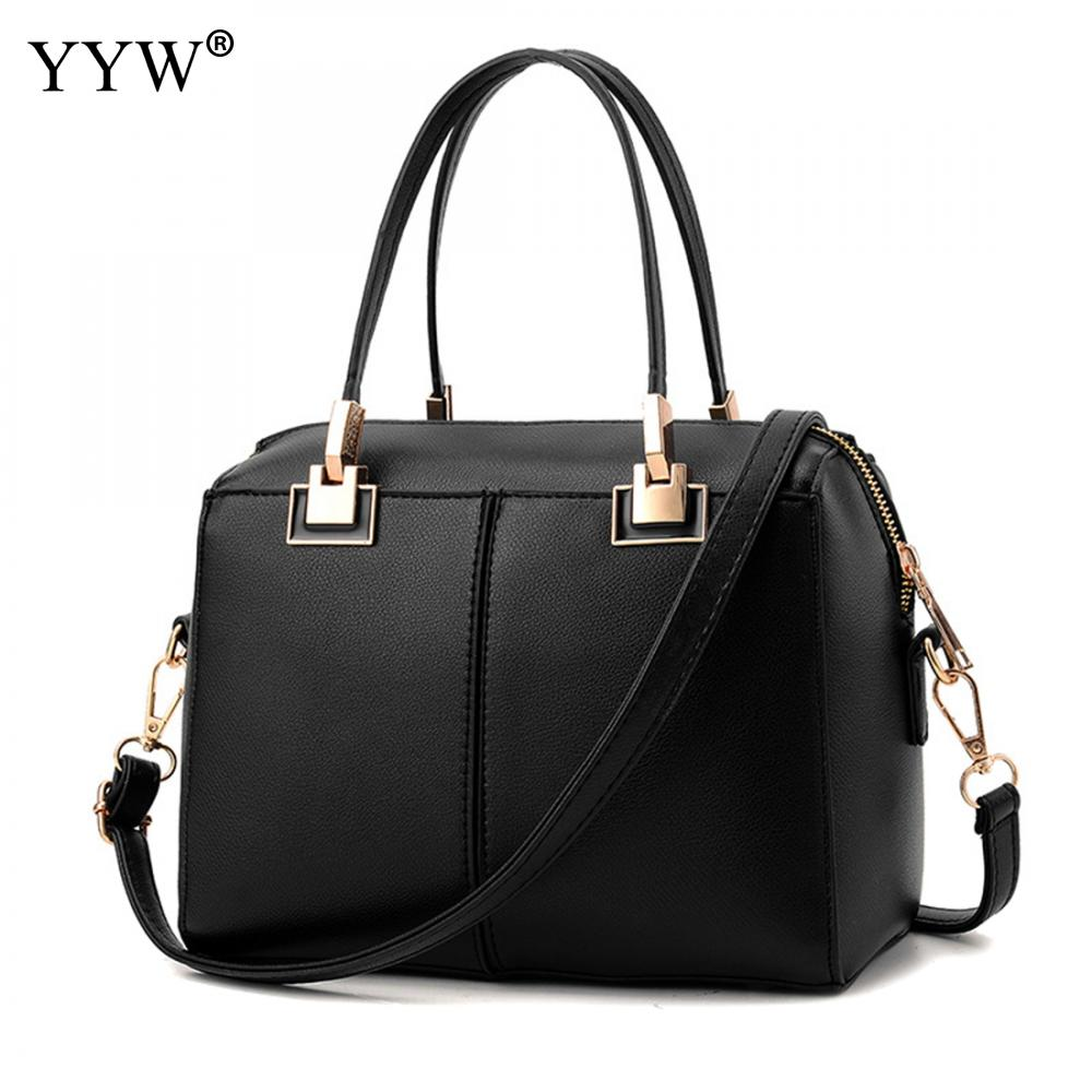 все цены на Luxury Women's PU Leather Handbags Business Tote Bag for Women New Top-Handle Bags Famous Brands Black Lady's Crossbody Bag
