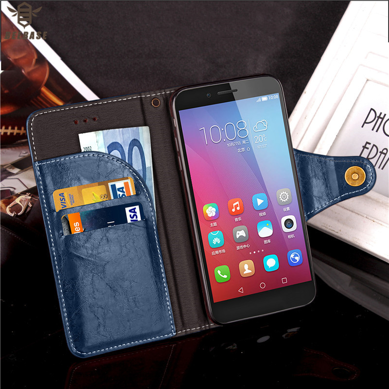 Cover For huawei p10 case cover p8 lite p9 leather Wallet honor 6x 8 P10 Plus