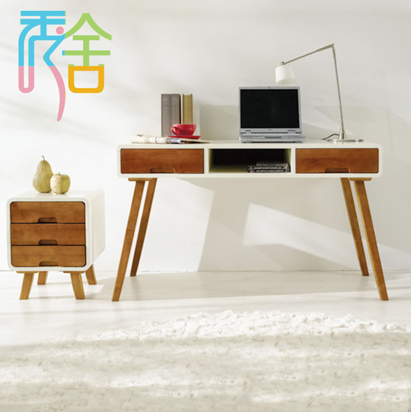 Korean Study Show Homes Modern Minimalist Wood Desk With