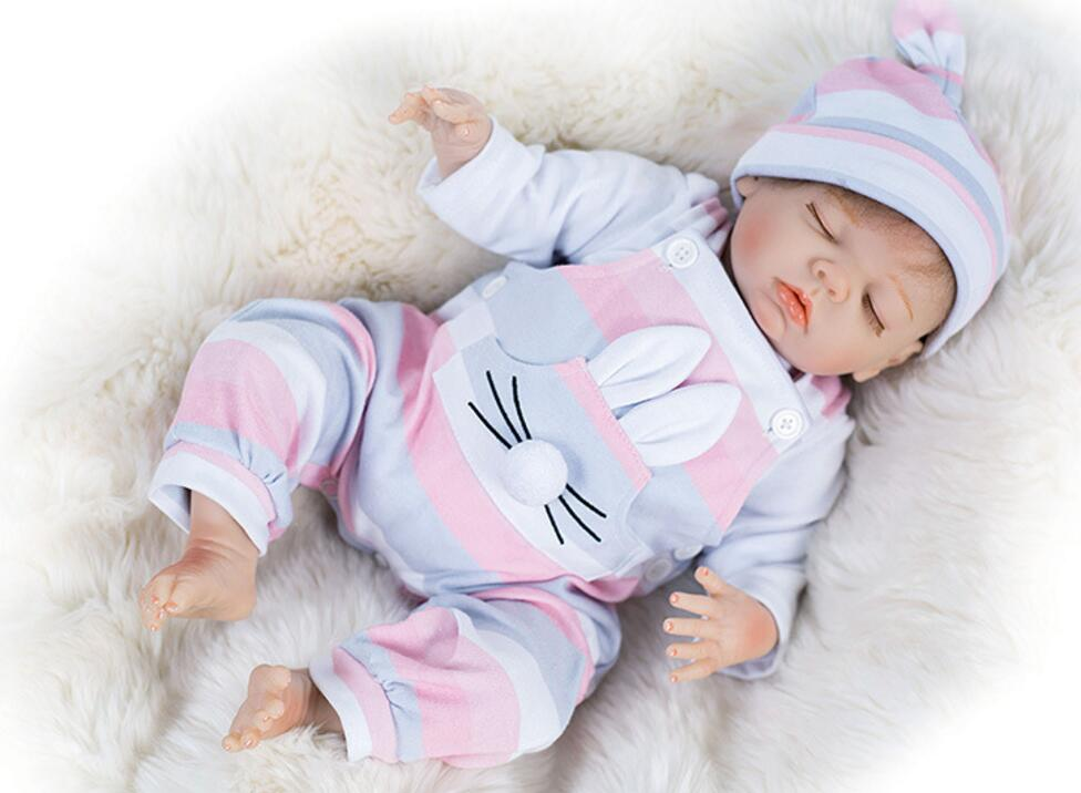 18'' lovely beautiful clothes for baby doll born mini reborn doll kit DK-81 finished doll 44 cm Silicone Reborn Baby Dolls toy american girl doll clothes for 18 inch dolls beautiful toy dresses outfit set fashion dolls clothes doll accessories