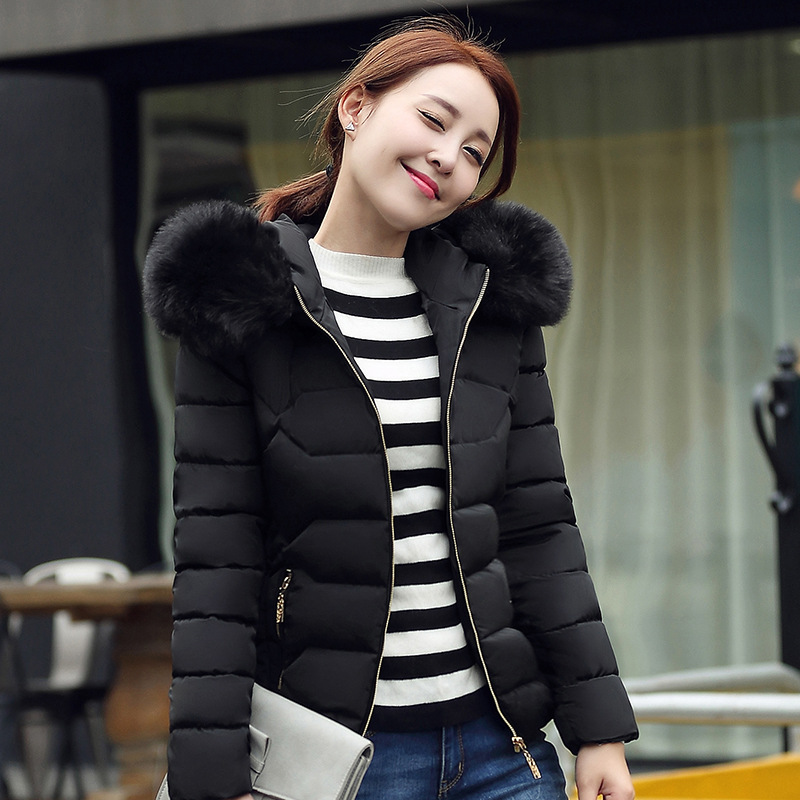 New big fur hooded winter jacket women parka big size solid color coat for women thick soft abrigos de piel mujer femme MZ930 2017 new wadded parka thick floral jackets women winter coat jacket abrigos mujer big size long over knee hooded outwear c2283