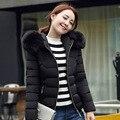 Novo grande com capuz de pele jaqueta de inverno mulheres parka plus size sólida casaco para as mulheres de cor grosso macio abrigos de piel mujer femme MZ930