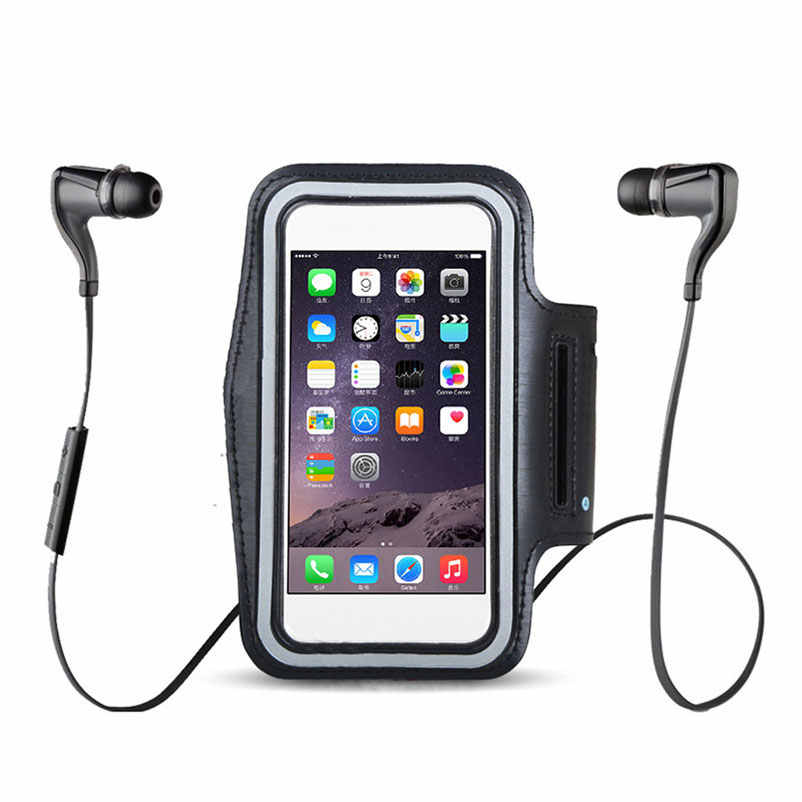 Черные нарукавники водонепроницаемые для бега спортзала для iPhone 11 11r Xs Pro Max XR 5 5S 5c SE X 10 8 6 6s 7 plus 4 4s Arm Band Fish phone case