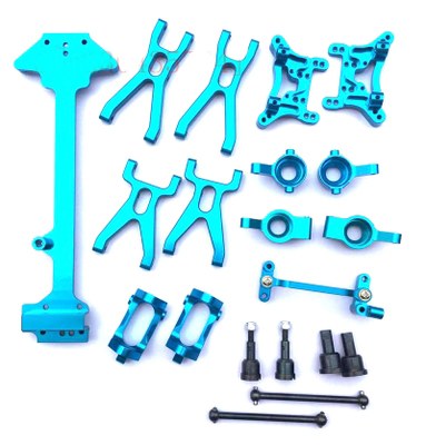 1Set WLtoys A949 A959 A969 A979 K929 1/18 RC Cars Upgrade Front/Rear Suspension Arm+Shock Tower+Hub Carrier+Dogbone+Linkage Rod a949 09 shock absorber board spare parts shock tower for wltoys a949 a959 a969 a979 a959 b a979 b rc car