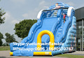 (China Guangzhou) manufacturers selling inflatable slides,Inflatable slide combination Large ocean slide KY-705