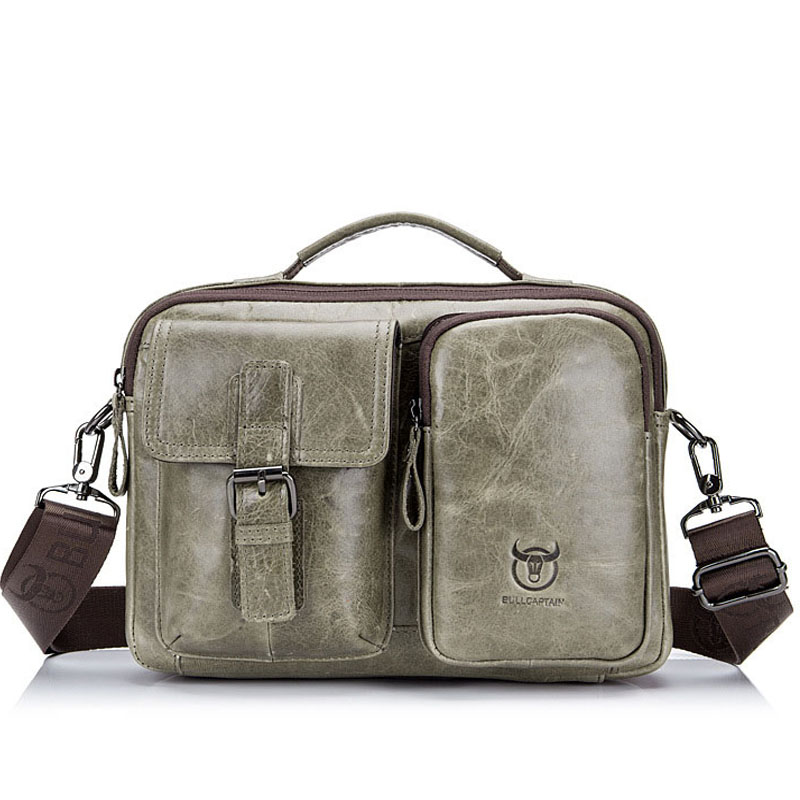 Retro Fashion Genuine Leather Men s Bags Brand New Design Male Shoulder Bag  Hand Business Casual Work Messenger Pack Briefcase-in Top-Handle Bags from  ... 87d2ad702c78b