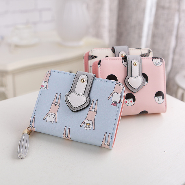 2017 Summer Cartoon Girls Mini Short Clutch Wallet Cute Women Money  Organizer Fashion Small Cheap Purse