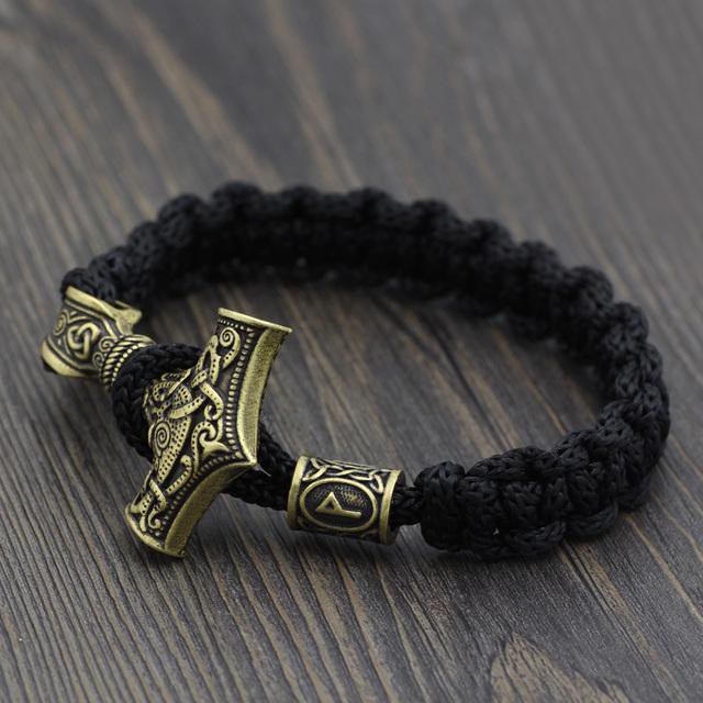 Vikings Thor's Hammer Mjolnir Bracelet
