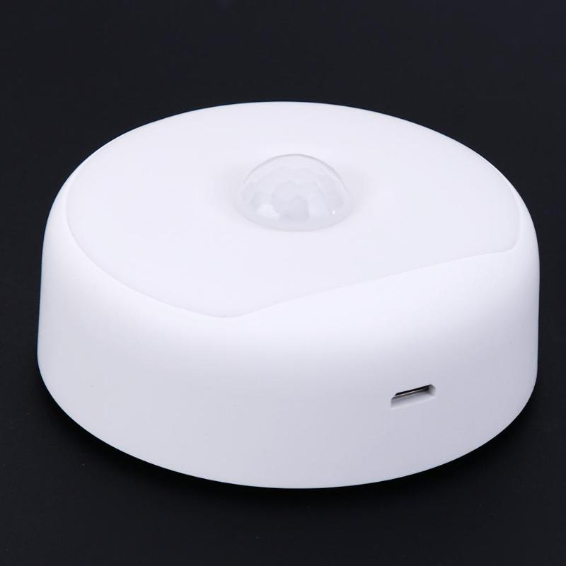 Automatic Sensor Night Light Motion Sensor Night Light LED USB Rechargeable Battery Powered Table Hanging Bedside Bedroom Lamp