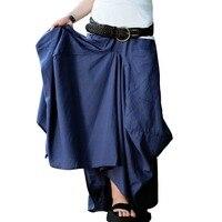 NEW 2014 Summer Women S Original Design Big Pocket Linen Skirt Irregular Full Dress 2014 Long