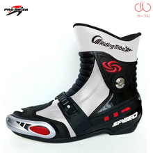 New style fashion Pro-biker A008 professional motorcycle boots motocross boots racing men boots anti-slip cycling shoes BPA08