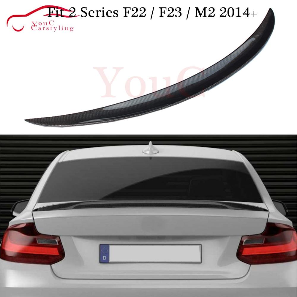 M-desempenho Estilo Fibra De Carbono Spoiler Traseiro Trunk Bota Lip para BMW Série 2 F22 F23 M2 F87 220i 228i M235i M240i 2014 +