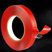3m pegatinas de estilo de coche 10/15/20mm cinta adhesiva de doble cara accesorios interiores adhesivo transparente de espuma acrílica