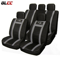 11pcs PU Leather Car Universal Seat Cover Set Protector Seats Black Cushion Covers Auto Styling
