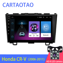 2DIN Android 8.1 เครื่องเล่นดีวีดีรถยนต์มัลติมีเดียสำหรับ Honda CRV CR V 3 2006 2007 2008 2009 2010 2011 WiFi สเตอริโอ navi GPS BT 1024*600