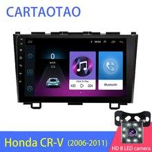 Kit multimídia automotivo com dvd player, 2din, android 8.1, para honda crv CR V 3 2006 2007 2008 2009, wifi, estéreo navi gps bt 1024*600