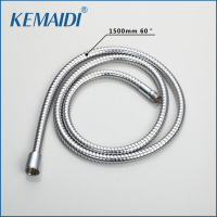 KEMAIDI Pull out Hose 1500mm Plumbing Hose Encanamento Mangueira Polished Chrome Stainless steel 6011 Bathroom Kitchen Sink Hose