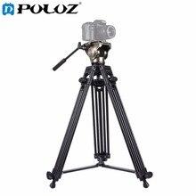 PULUZ Heavy Duty Video Camcorder Aluminum Alloy Tripod with Fluid Drag tripod Head for Canon Sony Nikon DSLR SLR Camera