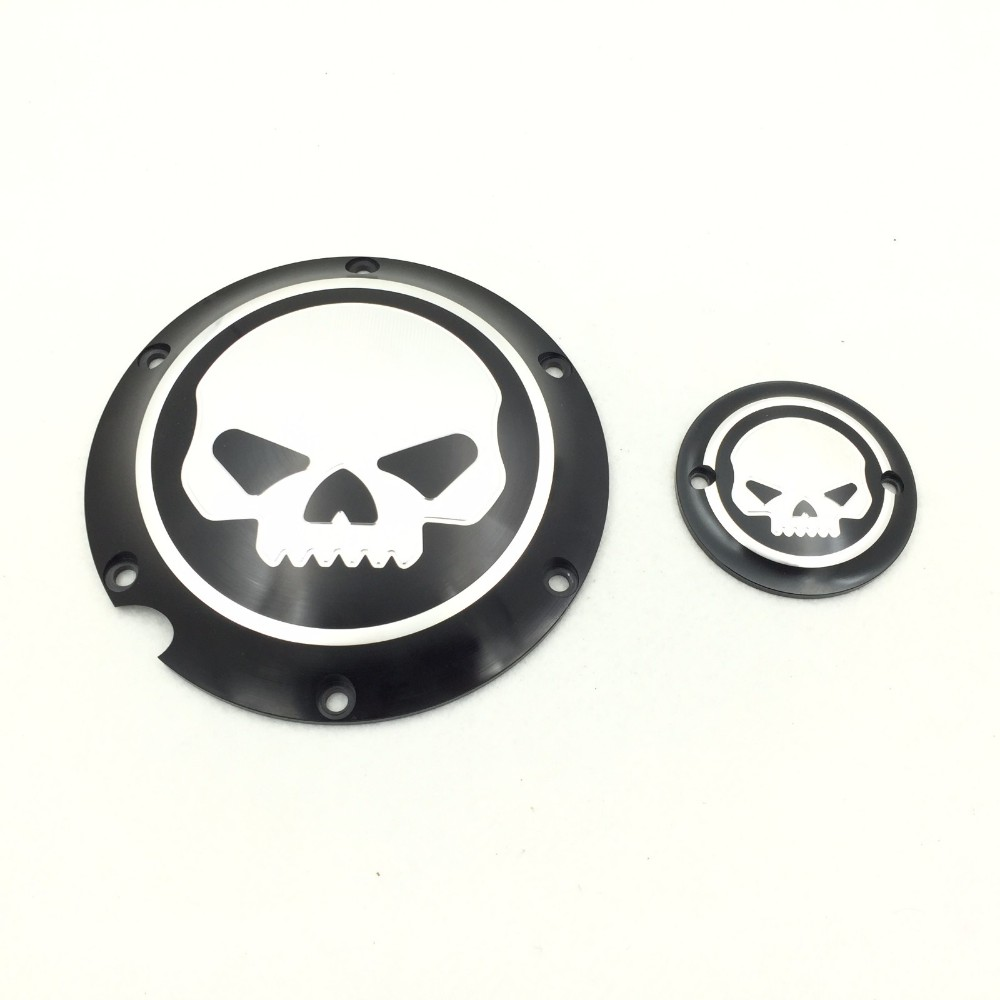 Aftermarket Skull Engine Derby Timer Cover For For Harley Davidson XL1200C Sportster 883 XL 1200X Forty-Eight Seventy Two mtsooning timing cover and 1 derby cover for harley davidson xlh 883 sportster 1986 2004 xl 883 sportster custom 1998 2008 883l