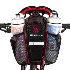 Велосипедная Сумка-биkepacking Cyrusher MTB, водонепроницаемая велосипедная корзина, задняя подседельный мешок с карманом для бутылки с водой, Новин...