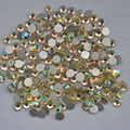 Jonquil AB ss3, Ss4, Ss5, Ss6, Ss8, Ss10, Ss12, Ss16, Ss20, Ss30 cristal de volta plana não Hotfix Nail Art cola em strass