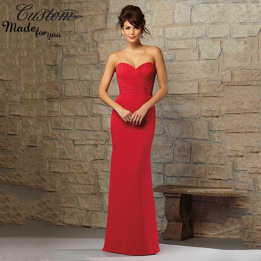 Vestidos De Damas De Honor En Rojo