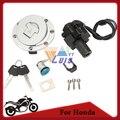 Interruptor de Ignição da motocicleta de Combustível Tampa Do Tanque de Boné De Gás Trava Do Assento conjunto de chaves para honda cbr600 f2 1991-1994 cbr600 f3 1995-1998 nova