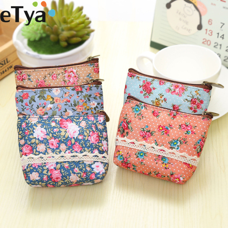 Fashion Flower Girls Small Mini Change Bags Women Coin Wallet and Purse Bag Pouch Case Key Pouch Children Kids Gifts qzh cartoon mini coin purse princess girls key case wallet children bag zipper kids baby girl change purse coin purses gifts