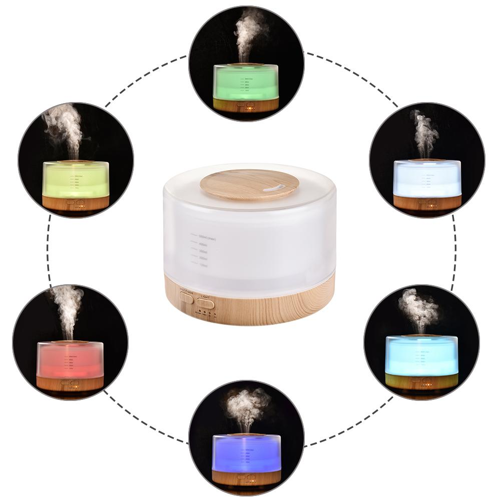 500ml Remote Control Ultrasonic Air Aroma Humidifier With 7 Color LED Lights Electric Aromatherapy Essential Oil Aroma Diffuser4