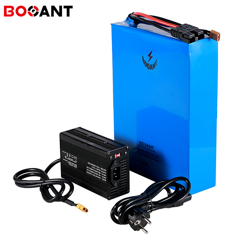 Powerful 5000w 52v 70ah rechargeable lithium battery for Sanyo 18650 cell 14S 20P 51.8v electric bike battery with 10A Charger|Electric Bicycle Battery| |  - title=