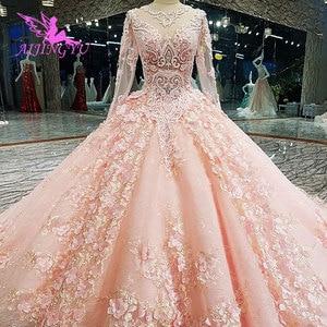 Image 2 - AIJINGYU Cucire Abito Da Sposa Semplice Abiti di Sfera Del Merletto Dubai Nuovo 2021 2020 Weddimg Abiti Negozi Cina Occidentale Da Sposa Abito Da Sposa