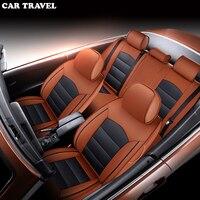 Автомобиль для путешествий на заказ из натуральной кожи чехол для сидения автомобиля для Защитные чехлы для сидений, сшитые специально для