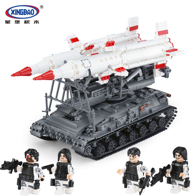 цены Xingbao 06007 Military Series The SA-4 Ganef Set Building Blocks Bricks Children Educational legoingly Toys Model Birthday Gifts